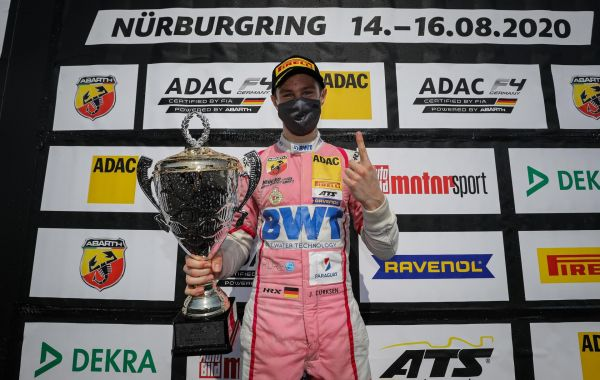 1st ADAC Formel 4 victory of the 2020 season for JOSHUA DUERKSEN at the Nürburgring